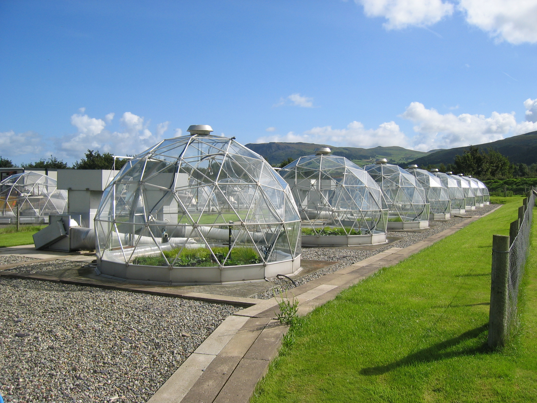 Solardome facility at CEH's Bangor site
