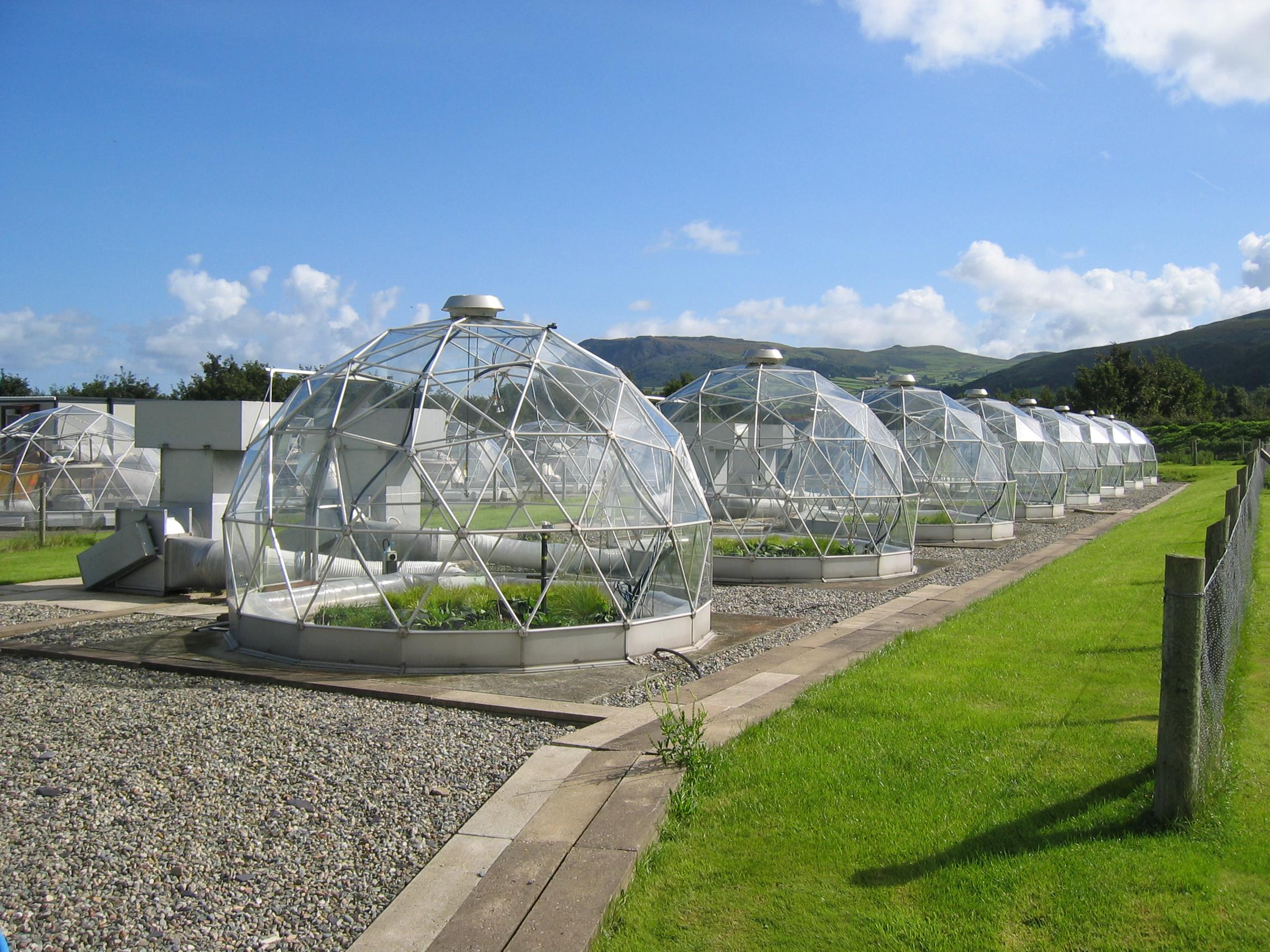 Solardome facility at CEH's Bangor site