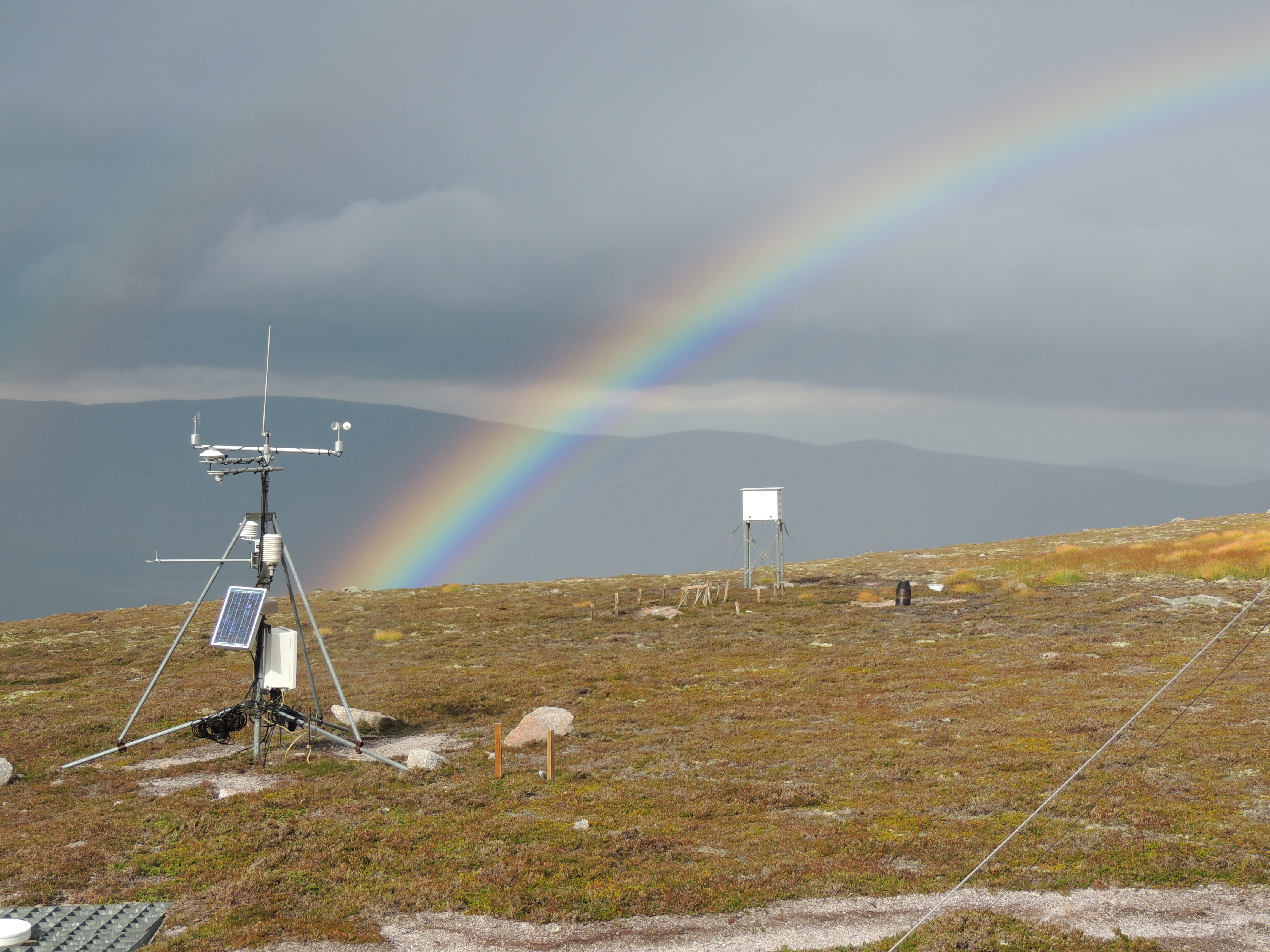 Weather station in the Cairngorms, Scotland