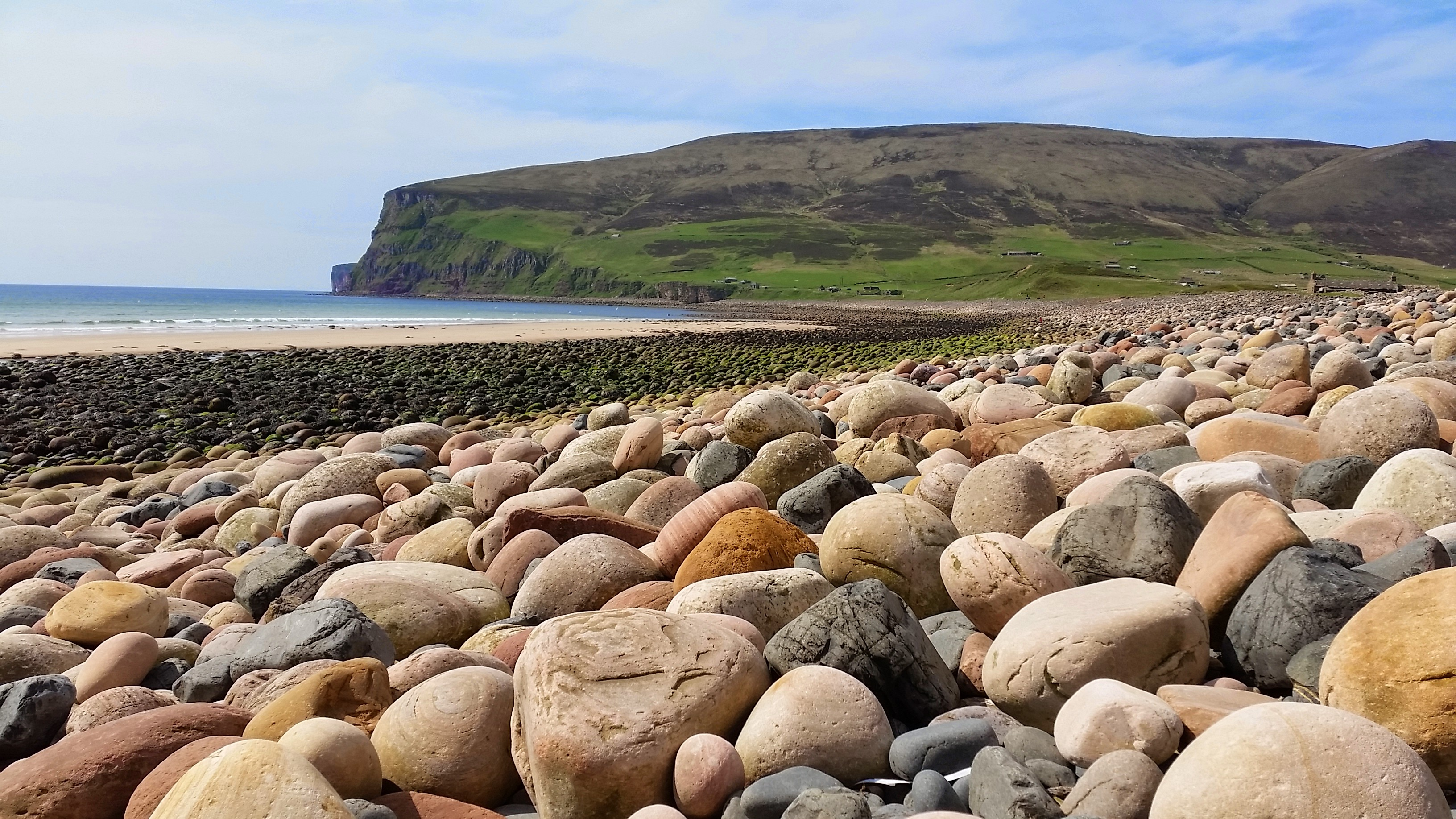 Stones in Rackwick Bay Photo: Dr Steven White
