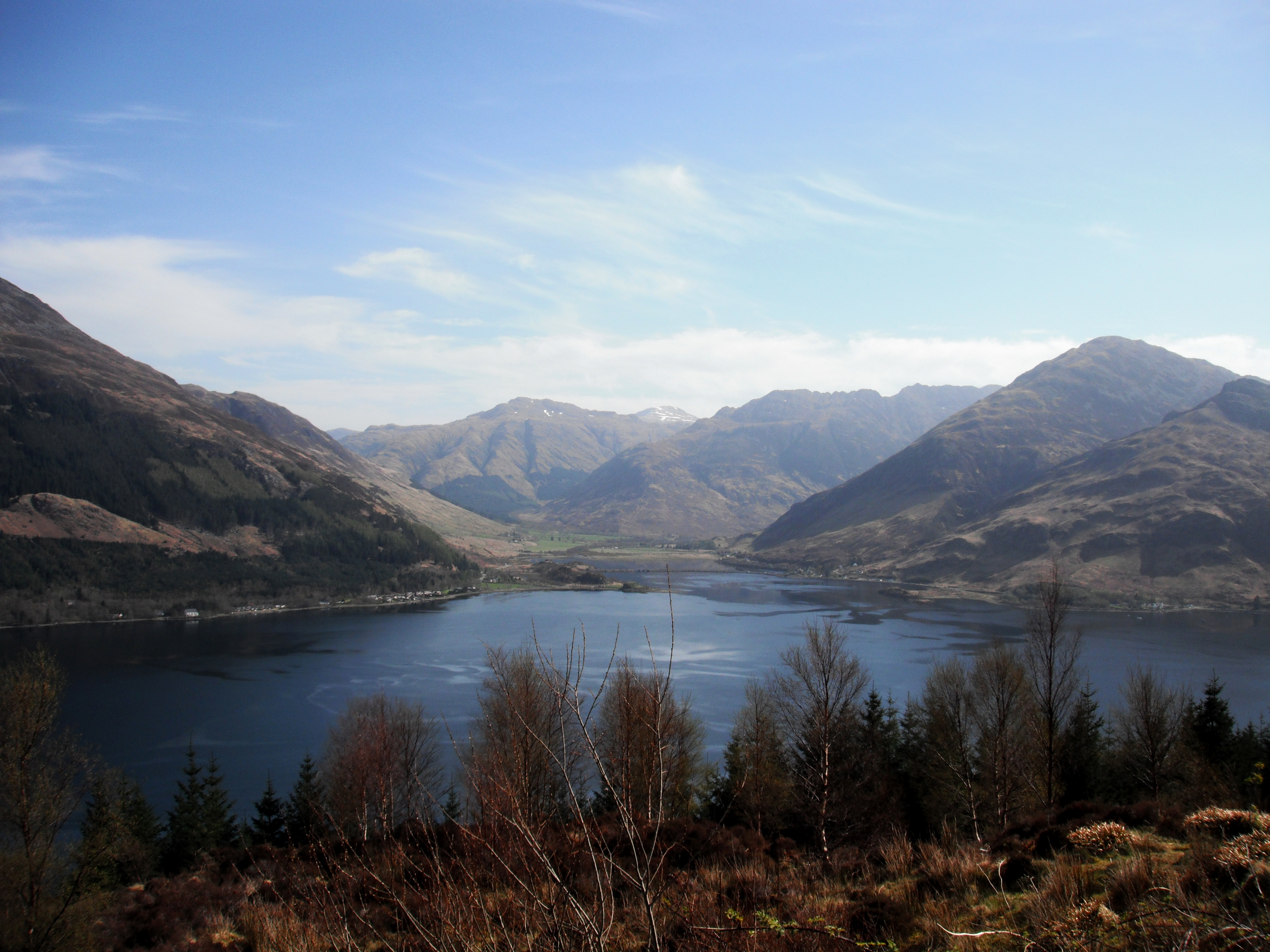 Mountains of Kintail at the head of Loch Duich in the Scottish Highlands Photo: Denise Pallett